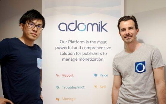 Adomik 渡沼翔氏と、ベンジャミン・ランフリー氏の写真