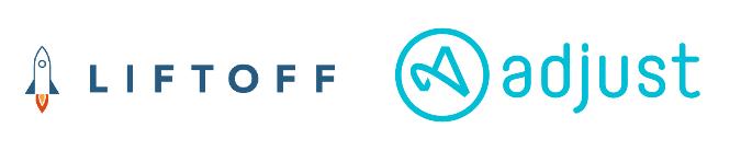 LIFTOFF x Adjust ロゴ