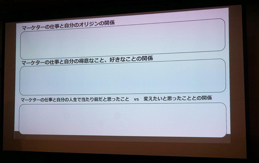 写真2:スライドに3項目