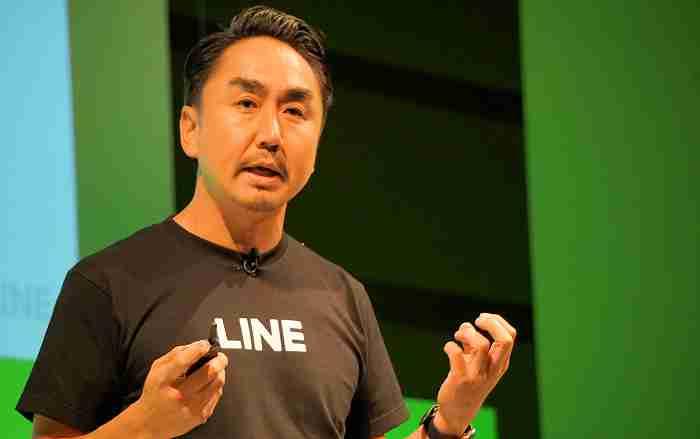 写真:LINE CEO