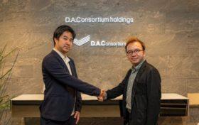 写真1:DAC北村氏と iClick Frankie Ho氏