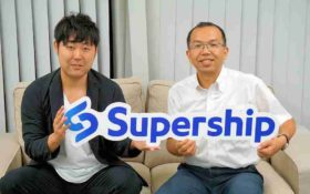 写真1:Supership 小林氏と 宣皓杰氏