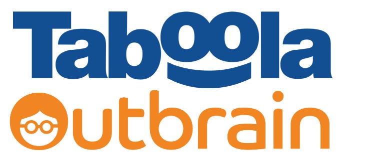Taboola、OutBrain ロゴ