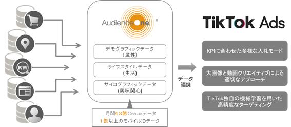 図:AudienceOne®における TikTok Ads連携