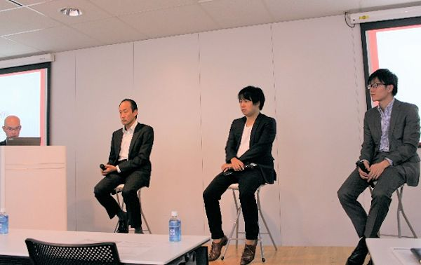 写真6:左から 長野氏、松野氏、深山氏、瀬川氏