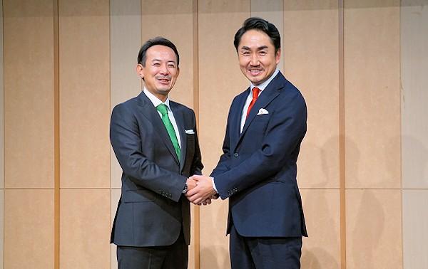 写真1:川邊健太郎氏、出澤剛氏