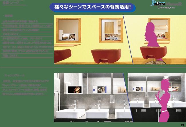 画像)図説:MirrorSignミラーサイン 設置イメージ