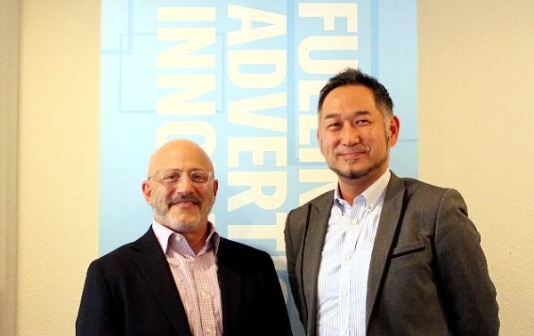 写真1:Jeff Hirsch氏 と 廣瀬 道輝氏
