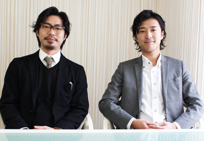 左 :取締役柏村 昌司氏 右:代表取締役社長小川 翔吾氏
